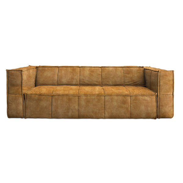 HK Living | Cube Couch 4 Seats Vintage Velvet Mustard Yellow | House of Orange Melbourne