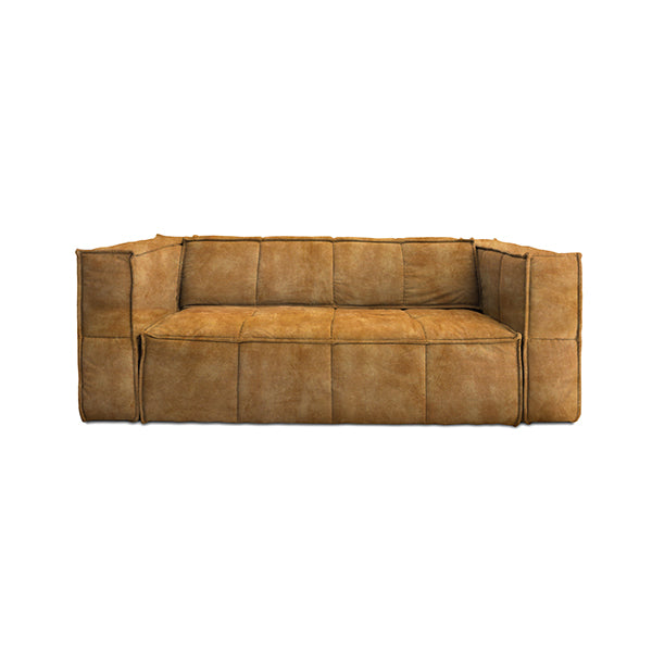 HK Living | Cube Couch 3 Seats Vintage Velvet Mustard Yellow | House of Orange Melbourne