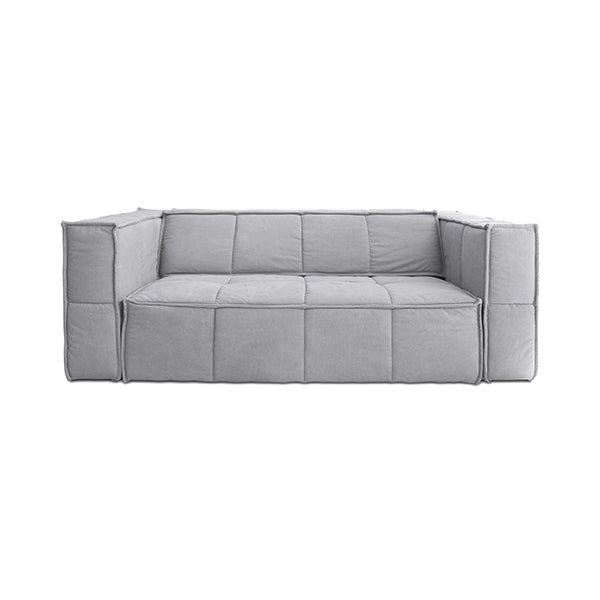 Cube Couch 3 Seats Canvas Light Grey