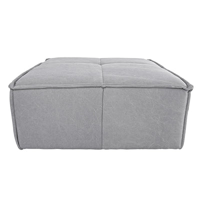 HK Living | Ottoman | Cube Canvas Light Grey | HK Living | House of Orange Melbourne