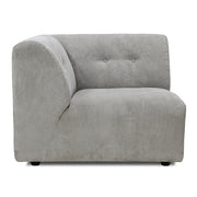 HK Living | Couch | Vint Element A Corduroy Rib Creme-Grey | HK Living | House of Orange Melbourne