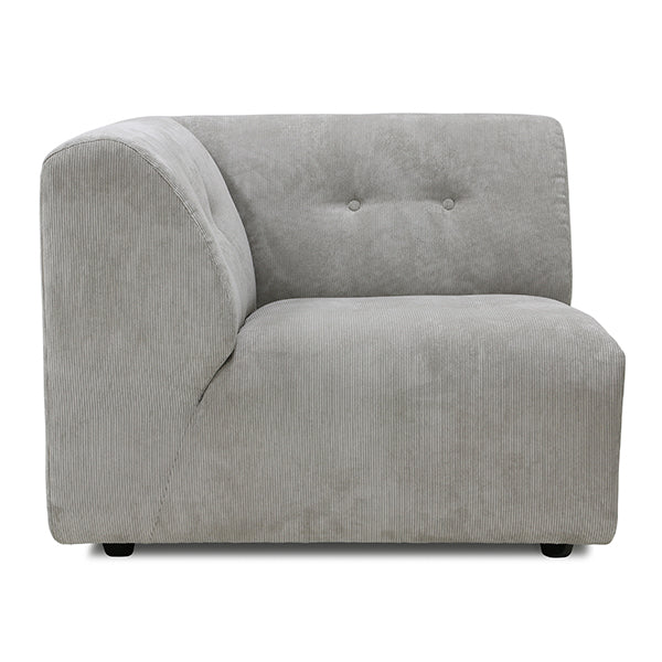 HK Living | Vint Couch Element A Corduroy Rib Grey/Creme | House of Orange Melbourne