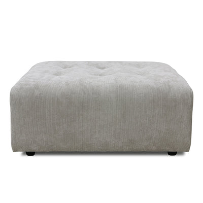 HK Living | Vin Couch Element Hocker Corduroy Rib Grey/Creme | House of Orange Melbourne
