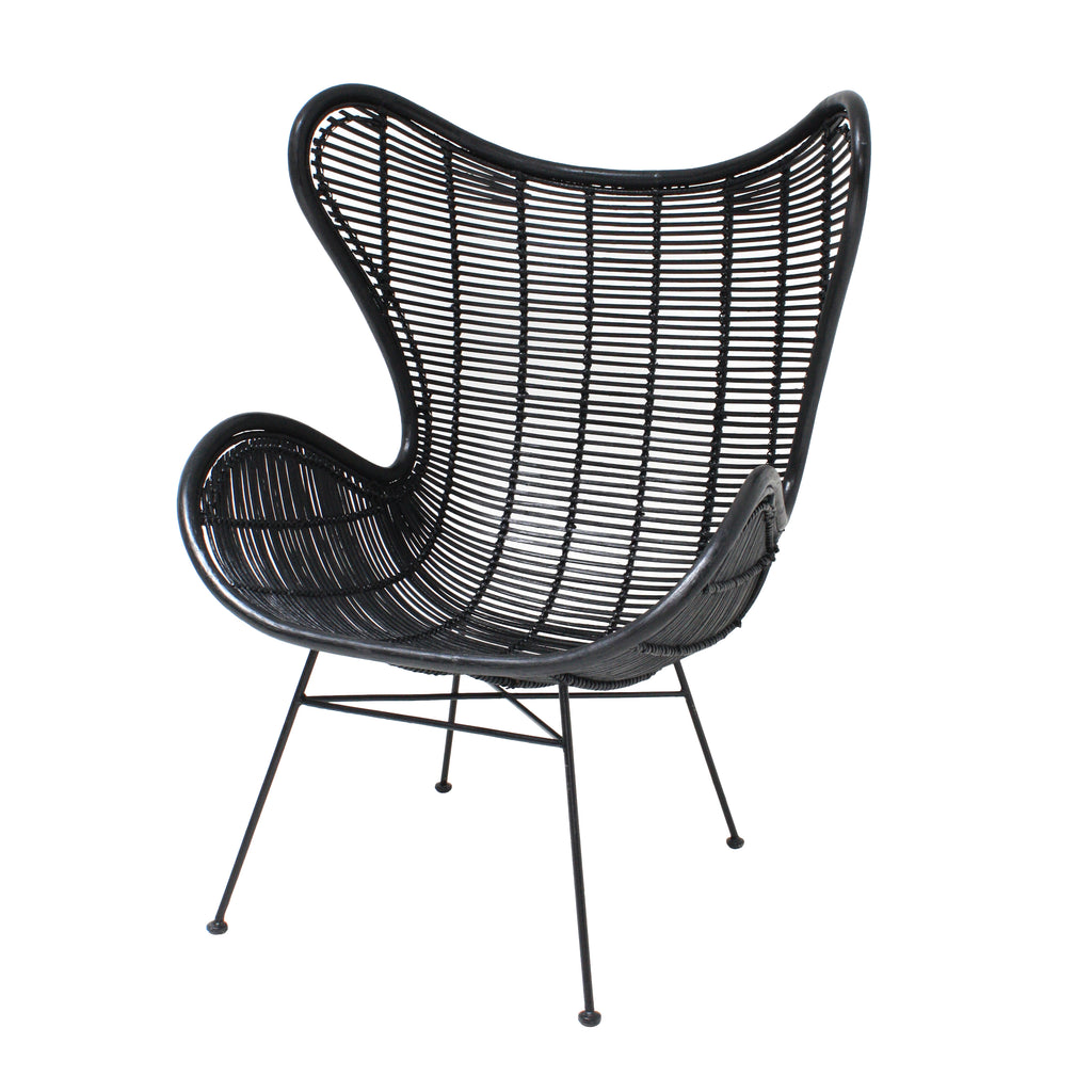 Rattan Egg Chair Black