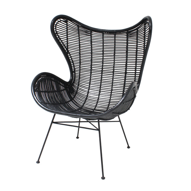 HK Living | Rattan Egg Chair Black | House of Orange Melbourne