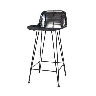 HK Living | Rattan Barstool Black | House of Orange Melbourne