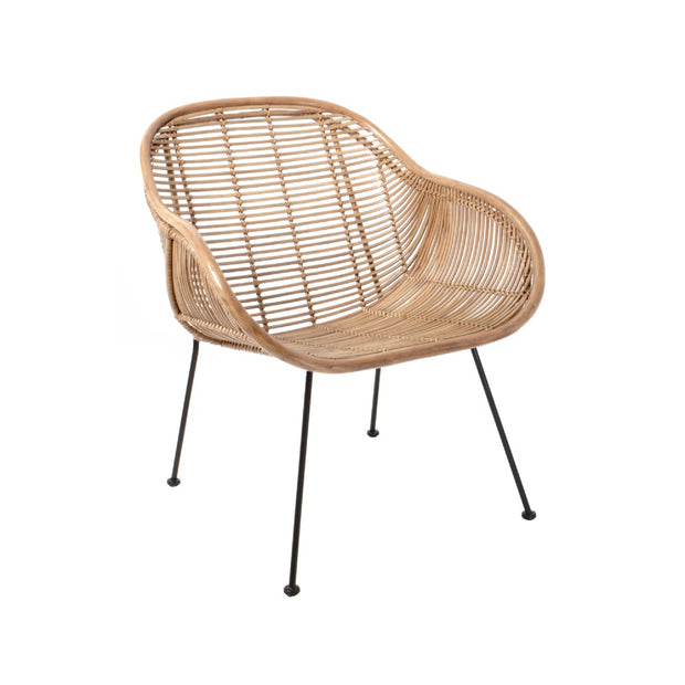 HK Living | Rattan Lounge Chair Natural | House of Orange Melbourne