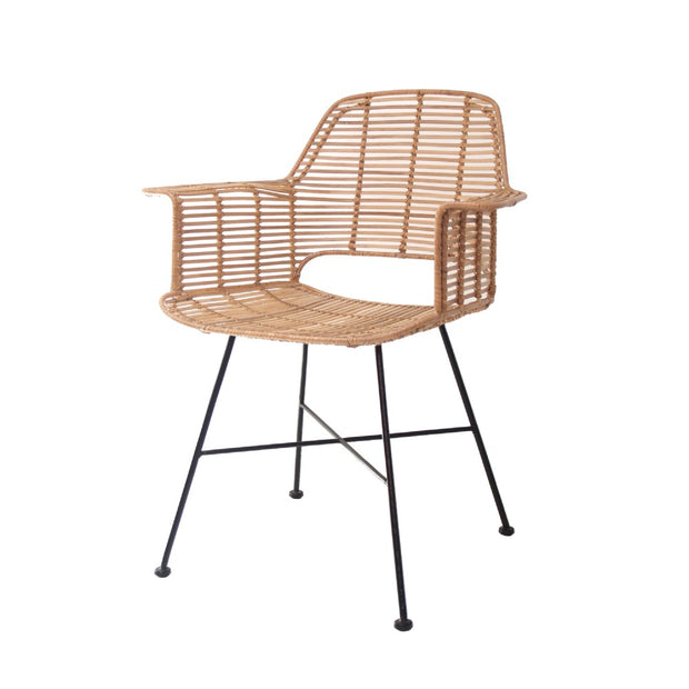 HK Living | Rattan Tub Chair Natural | House of Orange Melbourne