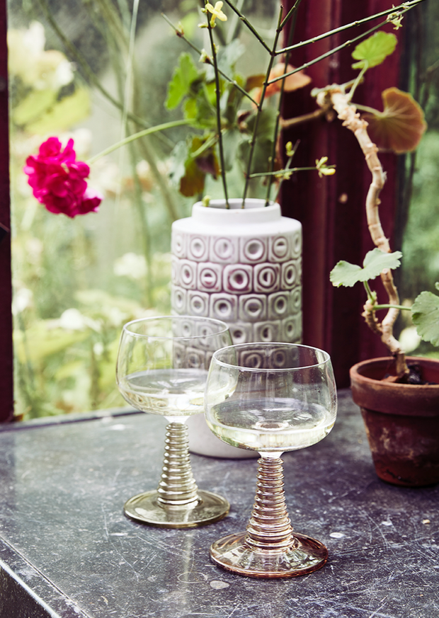 HK Living | Swirl Wine Glass Green | House of Orange Melbourne
