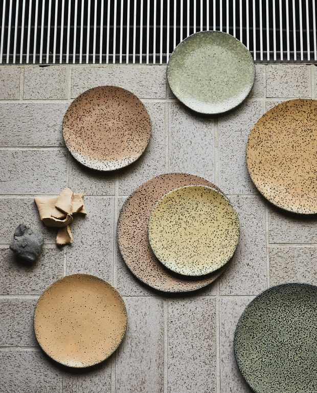 HK Living | Speckled Basic Ceramics: Dinner Plate Peach | House of Orange Melbourne