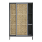HK Living | Webbing Sliding Door Cabinet Grey | House of Orange Melbourne