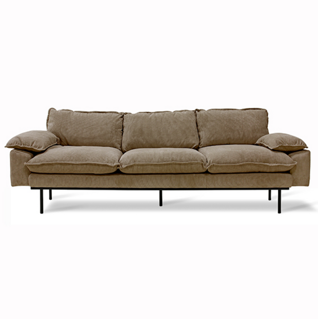 HK Living | Retro Sofa 4 Seats Corduroy Rib Brown | House of Orange Melbourne