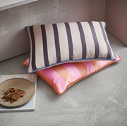 HK Living | Satin/Velvet Cushion Orange/Pink (35X50) | House of Orange Melbourne