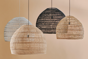 HK Living | Wicker Ball Lamp Medium White | House of Orange Melbourne