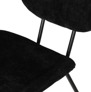 HK Living | Velvet Rib Dining Chair Black | House of Orange Melbourne