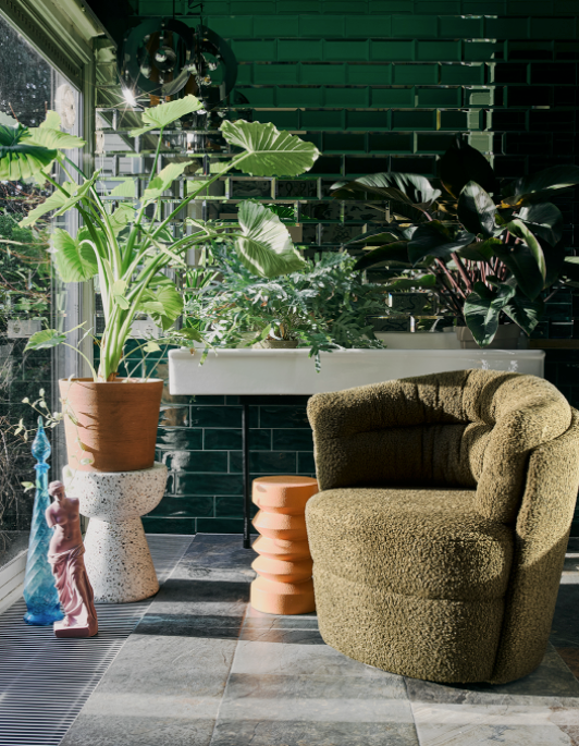 HK Living | Stoneware Side Table Terra | House of Orange Melbourne
