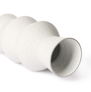 HK Living | White Speckled Clay Vase Angular M | House of Orange Melbourne