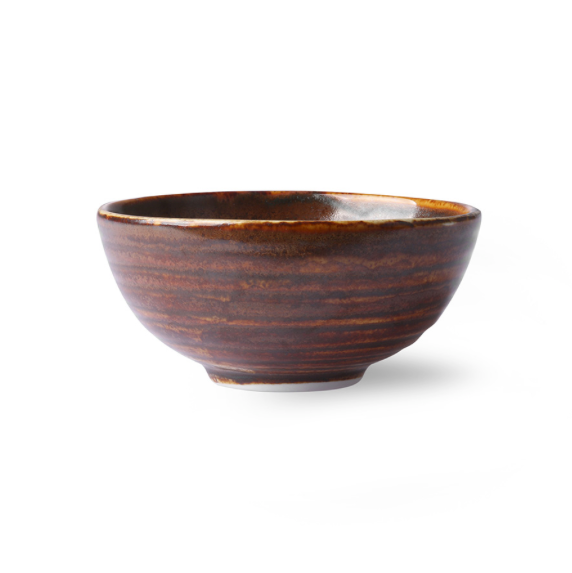 Rustic Brown Dessert Bowl