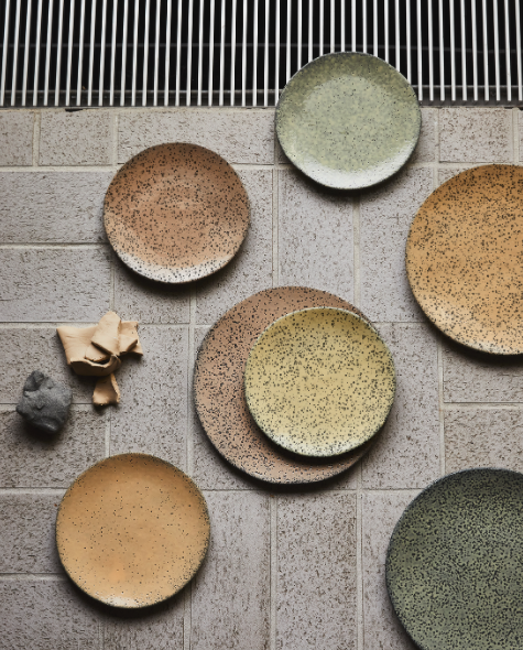 Speckled Basic Ceramics: Side Plate Green