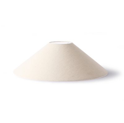 Triangle Lampshade L Ivory Jute