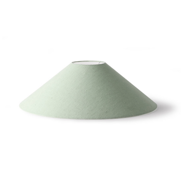 Triangle Lampshade Mint Green Jute