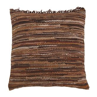HK Old | Brown Leather Floor Cushion | House of Orange Melbourne