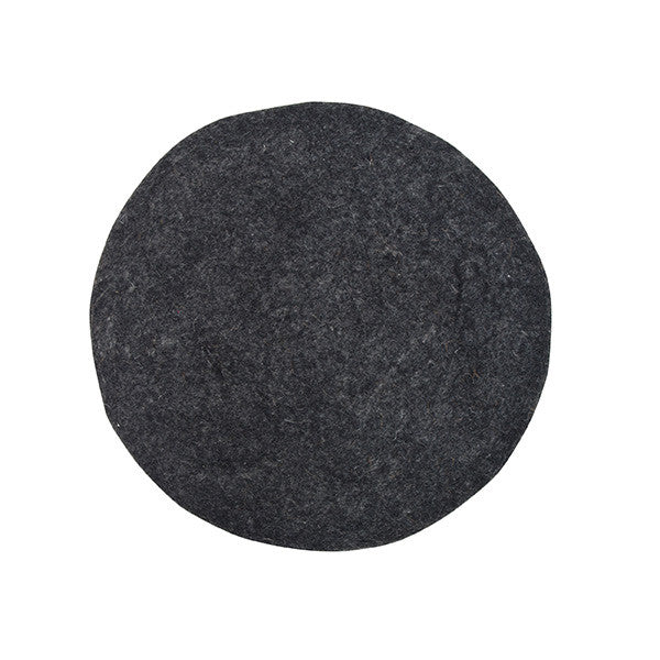 HK Living | Felt Seat Cover Charcoal | House of Orange Melbourne