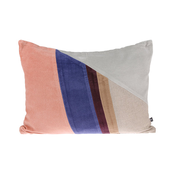 Velvet Patch Cushion Multicolour