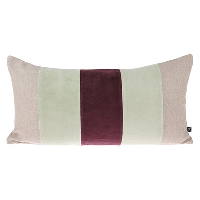 Velvet Cushion Mint/Cerise