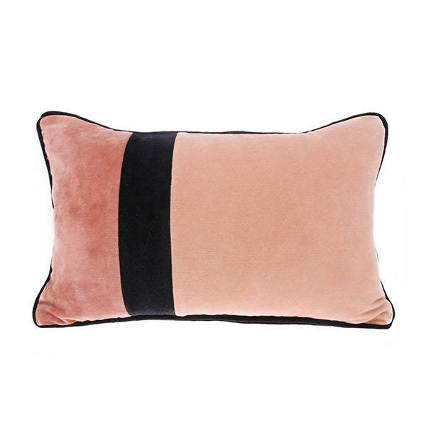 Velvet Cushion Black Piping