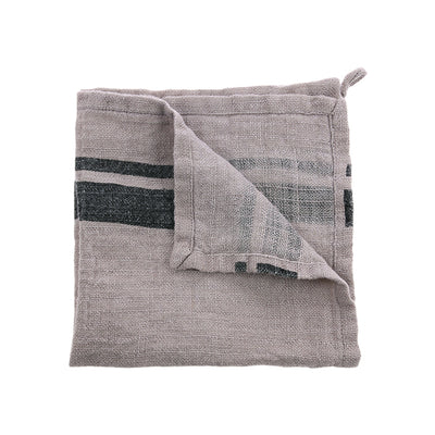 HK Living | Natural/Striped Linen Napkin (45x45) | House of Orange Melbourne