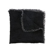 HK Living | Napkin | Linen Charcoal Fringes | HK Living | House of Orange Melbourne