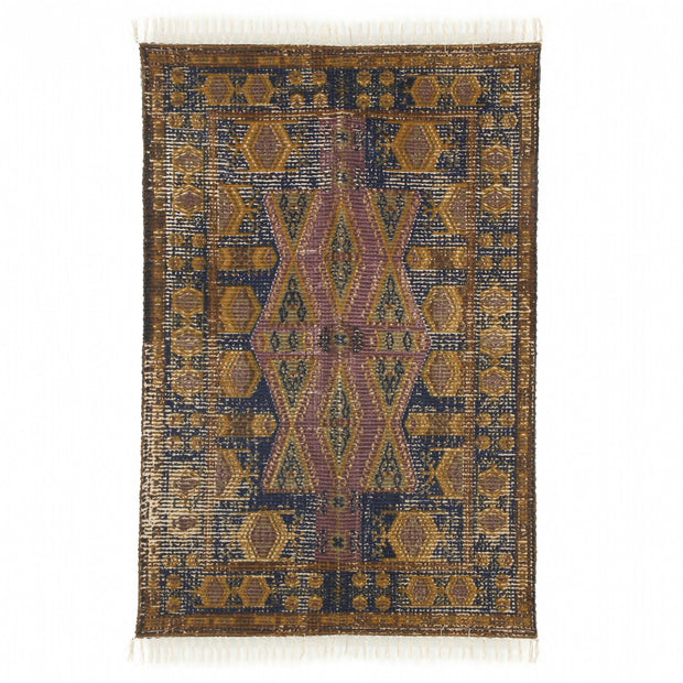 Printed Cotton/Jute Rug Stonewashed 120x180