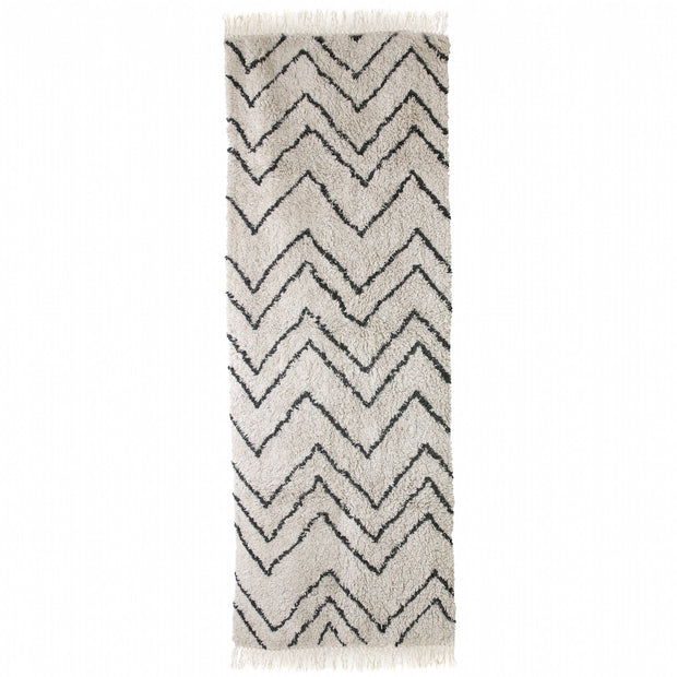 HK Old | Cotton Zigzag Runner (75x220) | House of Orange Melbourne
