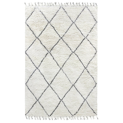 HK Living | Woollen Berber Rug Black/White (200 x 300) | House of Orange Melbourne