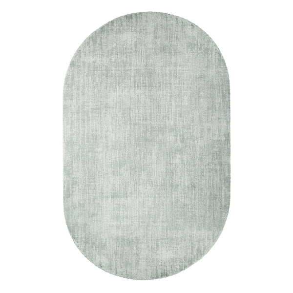 Oval Viscose Rug Mint Green