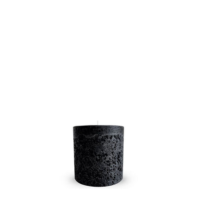Textured Candle Black Small