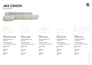 HK Living | Jax Couch: element angle sneak, light grey | House of Orange Melbourne