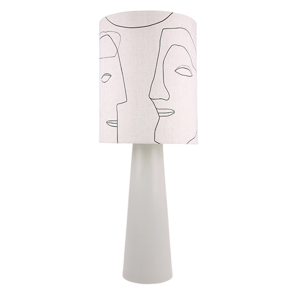 HK Living | Lampshade | Printed Faces Large (Shade only) | HK Living | House of Orange Melbourne