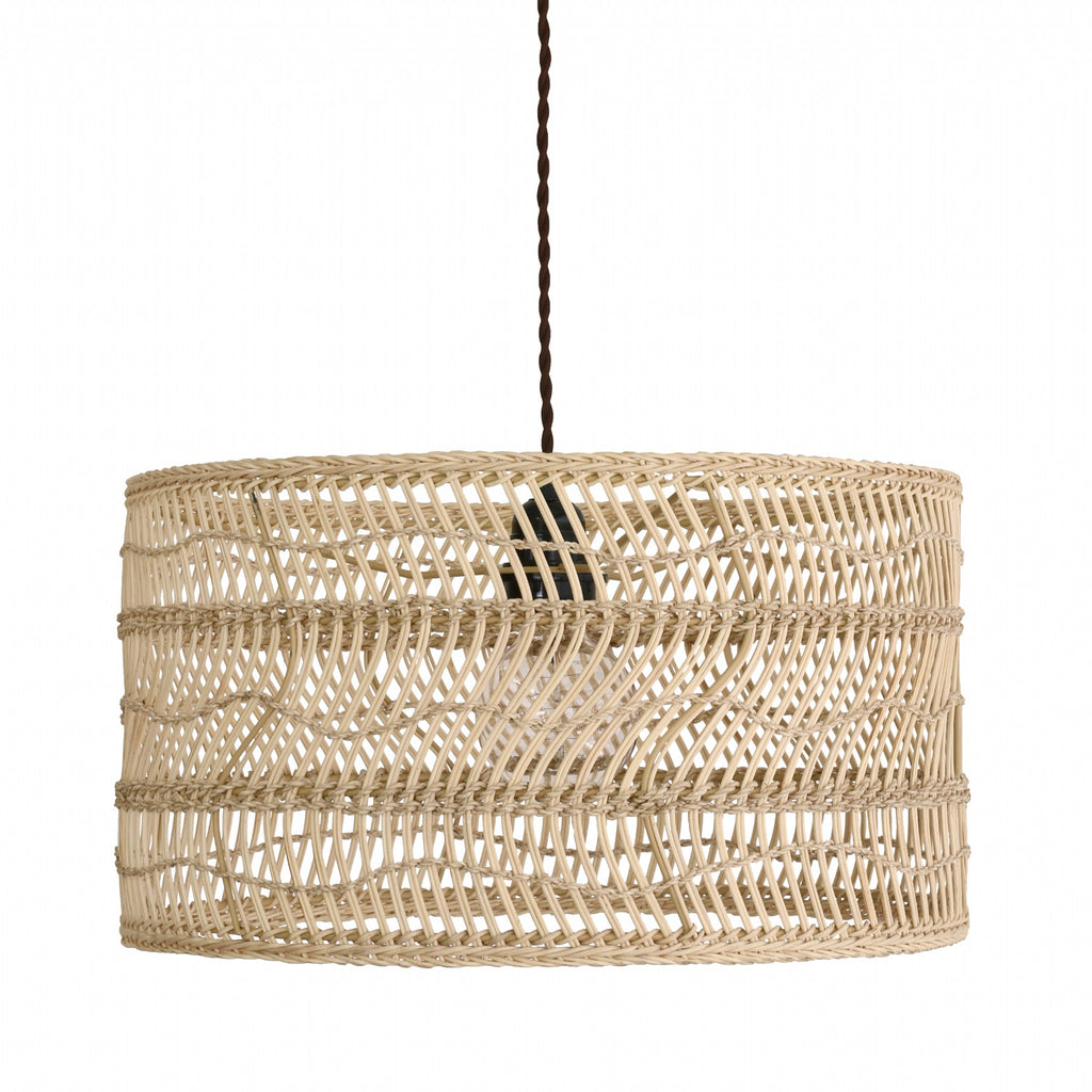 Lamp shade wicker