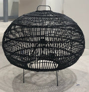 HK Old | Wicker Oval floor lamp Black | House of Orange Melbourne