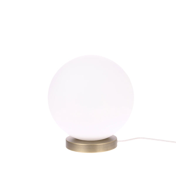 HK Living | Table Lamp | White Glass Ball Medium | HK Living | House of Orange Melbourne