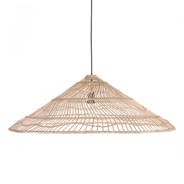 Wicker Hanging  Lamp Triangle Natural L