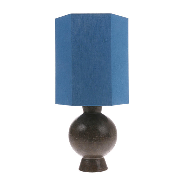 HK Living | Hexagonal Lampshade Linen Blue M (Shade only) | House of Orange Melbourne