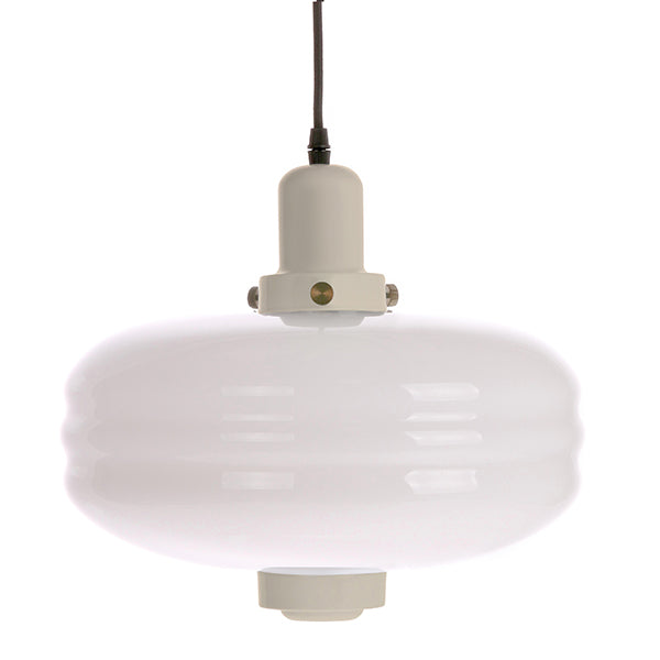 White Glass Pendant Lamp L Creme