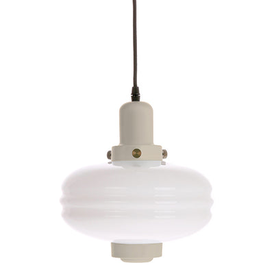 White Glass Pendant Lamp M Creme