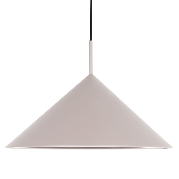 Metal Triangle Pendant Lamp Warm Grey