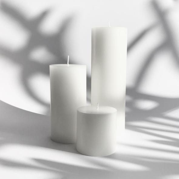 Pillar Candle Pure white Medium