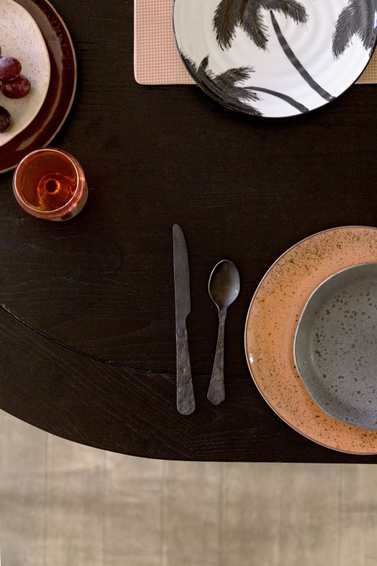 HK Living | Bold & Basics Ceramics: Organic Dinner Plate Peach | House of Orange Melbourne
