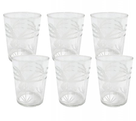 HK Living | Drinking Glass | Engraved Palms | HK Living | House of Orange Melbourne
